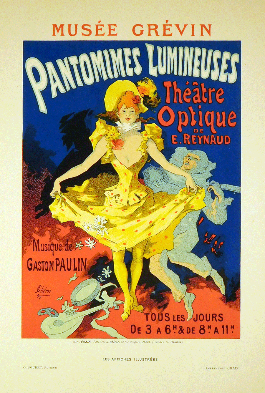 Pantomimes Lumineuses Color Lithograph by Jules Cheret