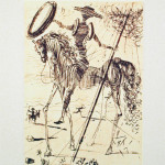 Don Quixote Etching by Salvador Dali