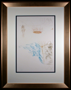 Framed and Matted Tristam's Testament Etching by Salvador Dali
