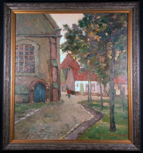 Village in the Brebant Original Oil Painting by Maurice de Meyer