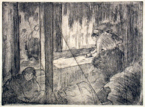 The Laundresses Original Etching by Degas
