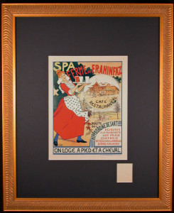 Spa Ferme Lithograph after Duyck and Crespin Framed and Matted