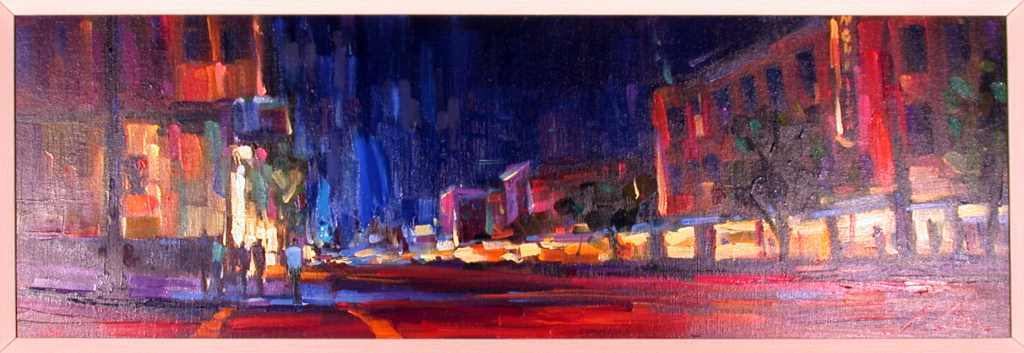 San Franciso Nights Original Acrylic on Canvas by Michael Flohr