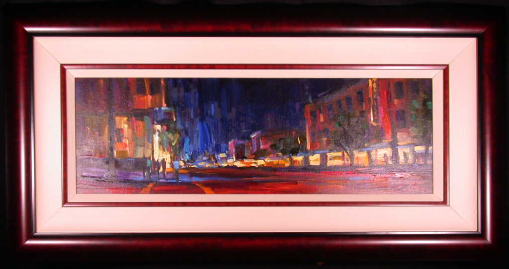 San Francisco Nights by Michael Flohr with Elegant Frame and Liner
