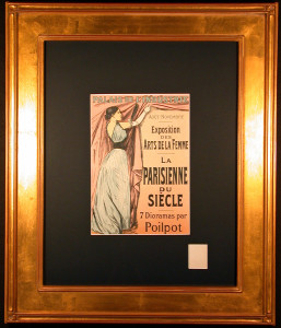 Parisienne du Siecle Lithograph after Jean-Louis Forain Framed and Matted