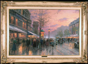 Paris, Boulevard of Lights by Thomas Kinkade Framed and Matted