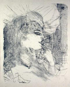 Anna Held Original Lithograph by Toulouse-Lautrec