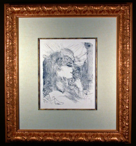 Anna Held Original Lithograph by Toulouse-Lautrec Framed and Matted