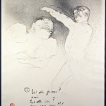 Aux Varietes Original Signed Lithograph by Toulouse_Lautrec