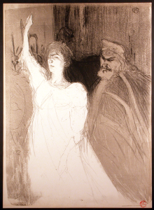 Bartet et Sully-Mounet Original Lithograph by Toulouse-Lautrec