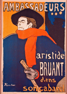 Aristide Bruant Color Lithograph after Toulouse-Lautrec
