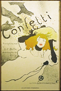 Confetti Original Lithograph after Henri de Toulouse-Lautrec