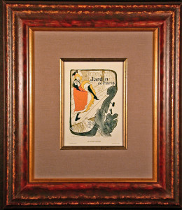 Framed and Matted Jane Avril Lithograph after Toulouse-Lautrec