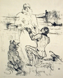 The Declaration Original Lithograph by Toulouse-Lautrec
