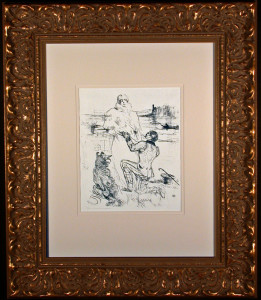 The Declaration Lithograph by Toulouse-Lautrec Framed and Matted