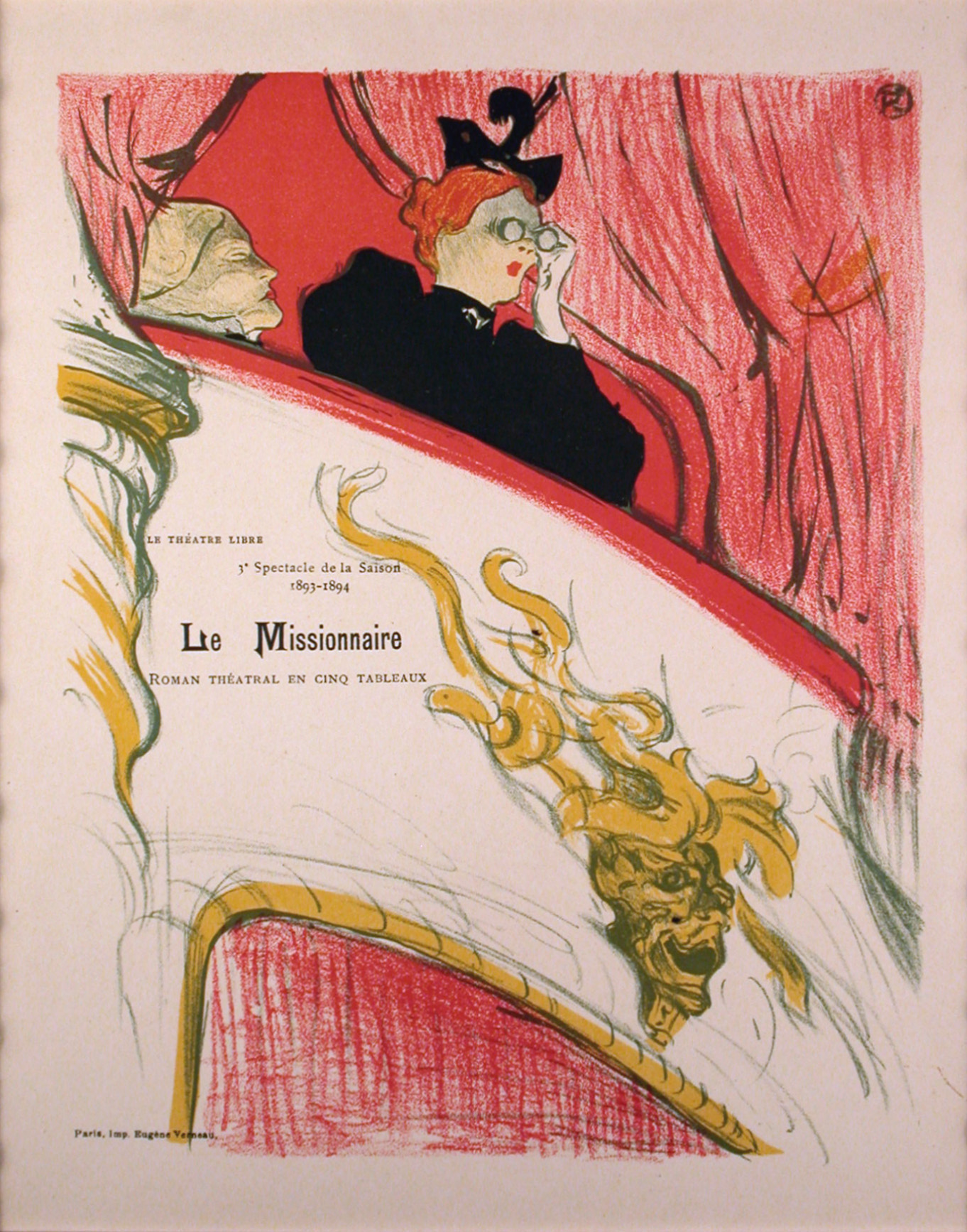 le missionnaire original 1897 lithograph by toulouse lautrec j d smith fine art. Black Bedroom Furniture Sets. Home Design Ideas