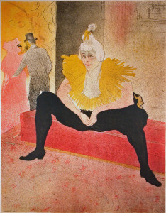 Toulouse-Lautrec Exhibit Poster from 1955 Chuacao