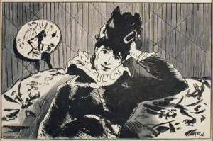La Parisienne Original Wood Engraving by Eduoard Manet