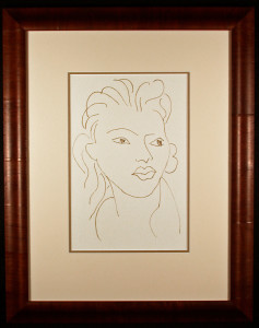 Poesies Antillaises Matisse Lithograph Framed and Matted