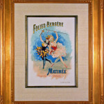 Original Lithograph advertising the Folies Bergere