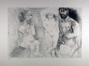 Original Etching by Pablo Picasso Enterrenes_Comtes