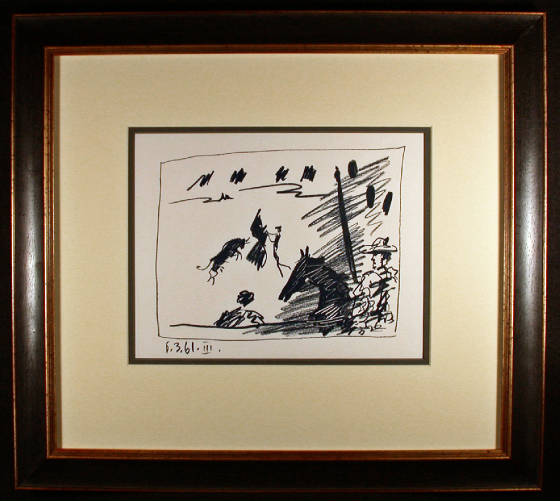 Jeu du Cape Original Lithograph by Pablo Picasso Framed and Matted