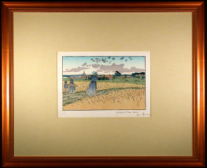 Le Bourg des Perros-Guirree Lithograph after Riviere