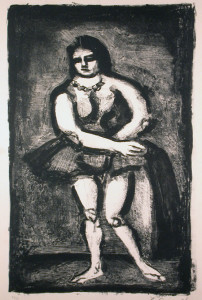 L' Ecuyere Original Signed Lithograph by George Rouault