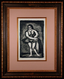 L' Ecuyere Original Signed Lithograph by George Rouault Framed and Matted