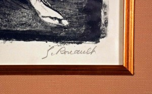 L' Ecuyere Original Signed Lithograph by George Rouault Signed in Pencil