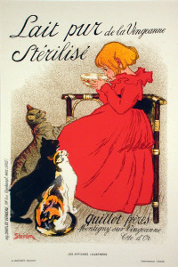 Lait pur Sterilise - Original 1896 Color Lithograph after Steinlen