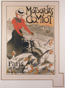Motorcycles Comiot - Original 1900 Color Lithograph after Steinlen