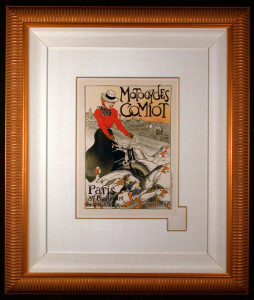 Motorcycles Comiot Original Colot Lithograph after Steinlen