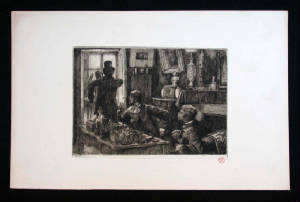 Denoisel and Henri Mauperin's Rooms Unframed Etching by Tissot
