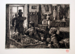 Denoisel and Henri Mauperin's Rooms Original Etching by Tissot