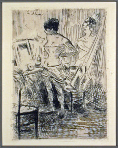 Dancers in Their Dressing Room Original Etching