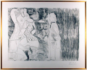 Series 156 Plate 107 Original Etching by Pablo Picasso