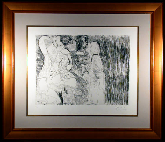 Series 156 Plate 107 Etching by Pablo Picasso Framed and Matted