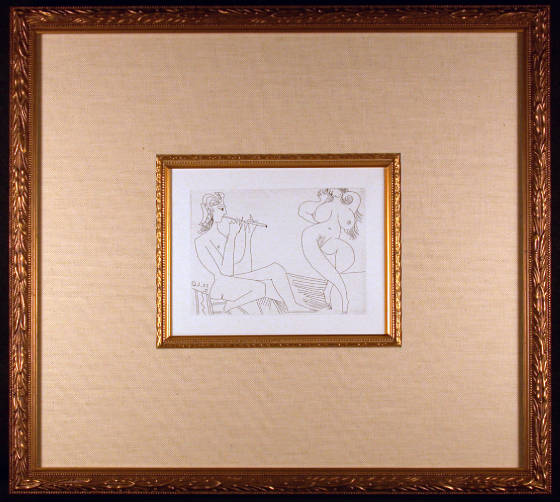 Series 347 Plate 169 Etching by Pablo Picasso Framed and Matted