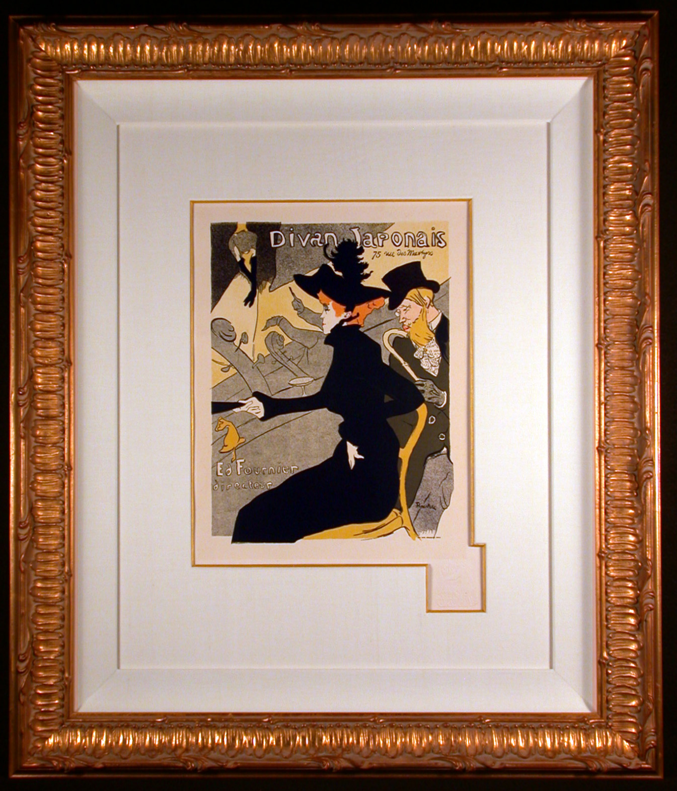 divan japonais 1896 color lithograph after toulouse lautrec j d smith fine art. Black Bedroom Furniture Sets. Home Design Ideas